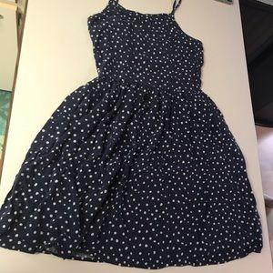 H&M navy blue polka dotted sundress